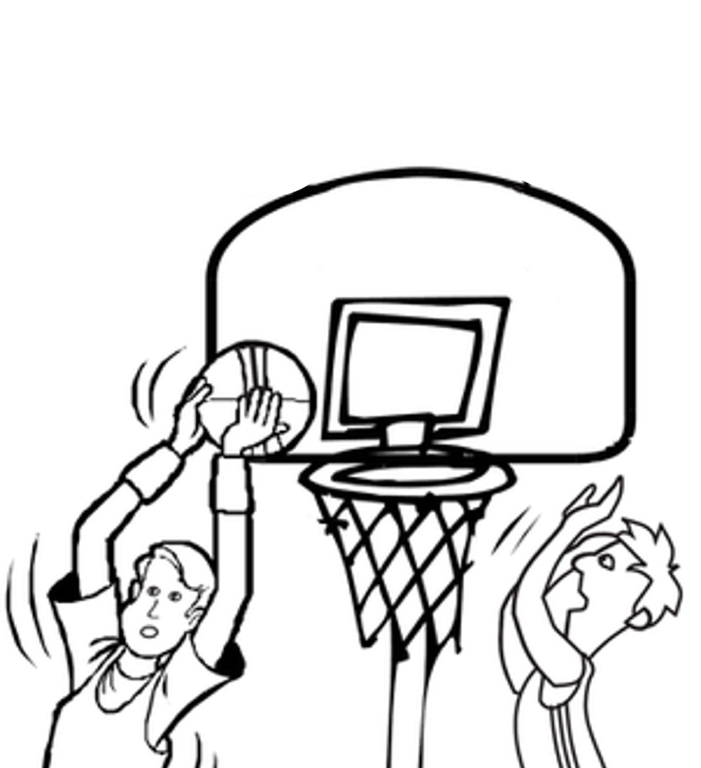 basketball-color-pages-ring