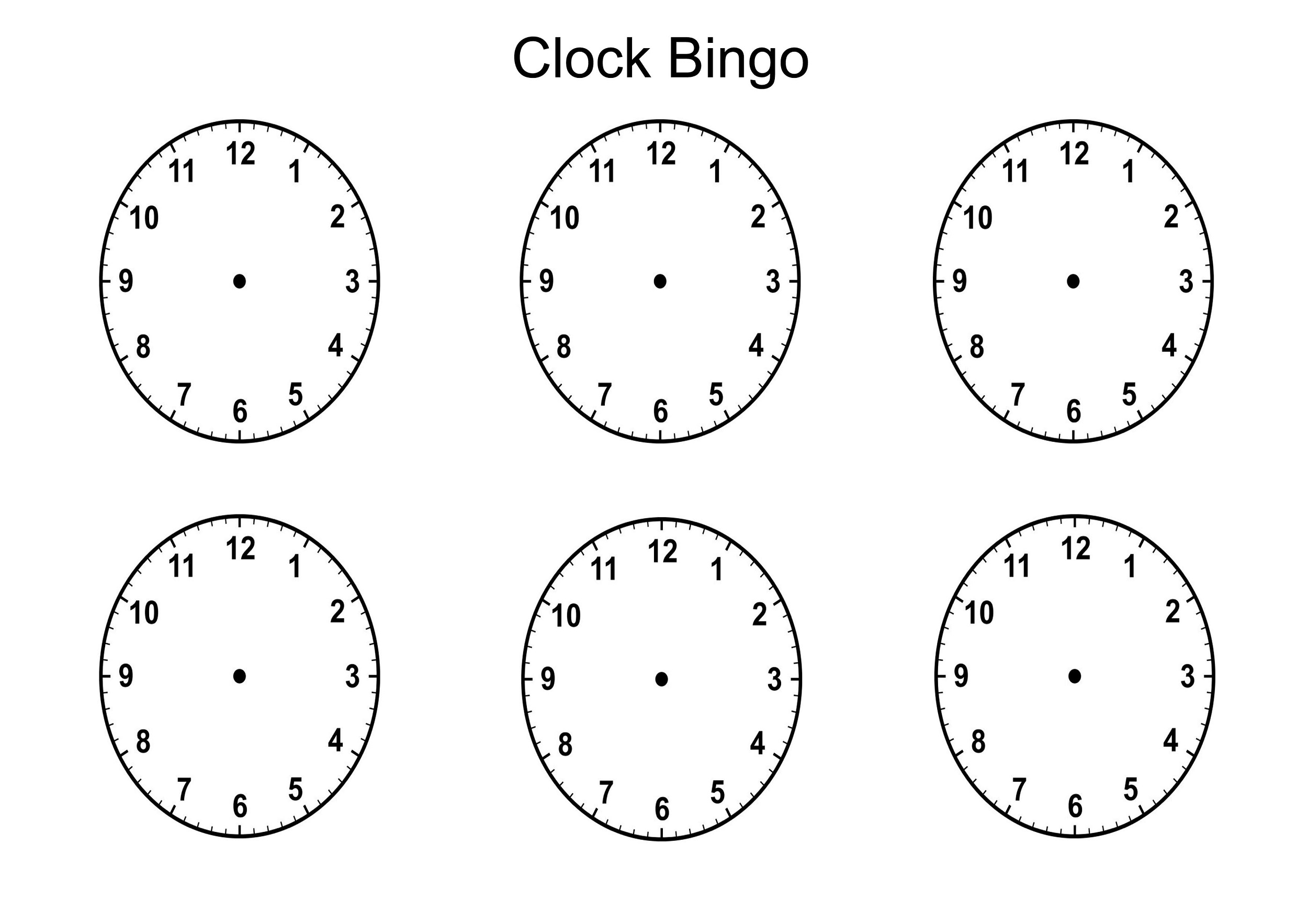 Worksheets Blank Clock Worksheets blank clock face activity shelter template bingo