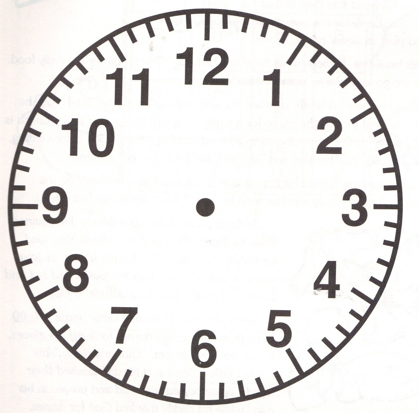 Wild image with regard to printable clock