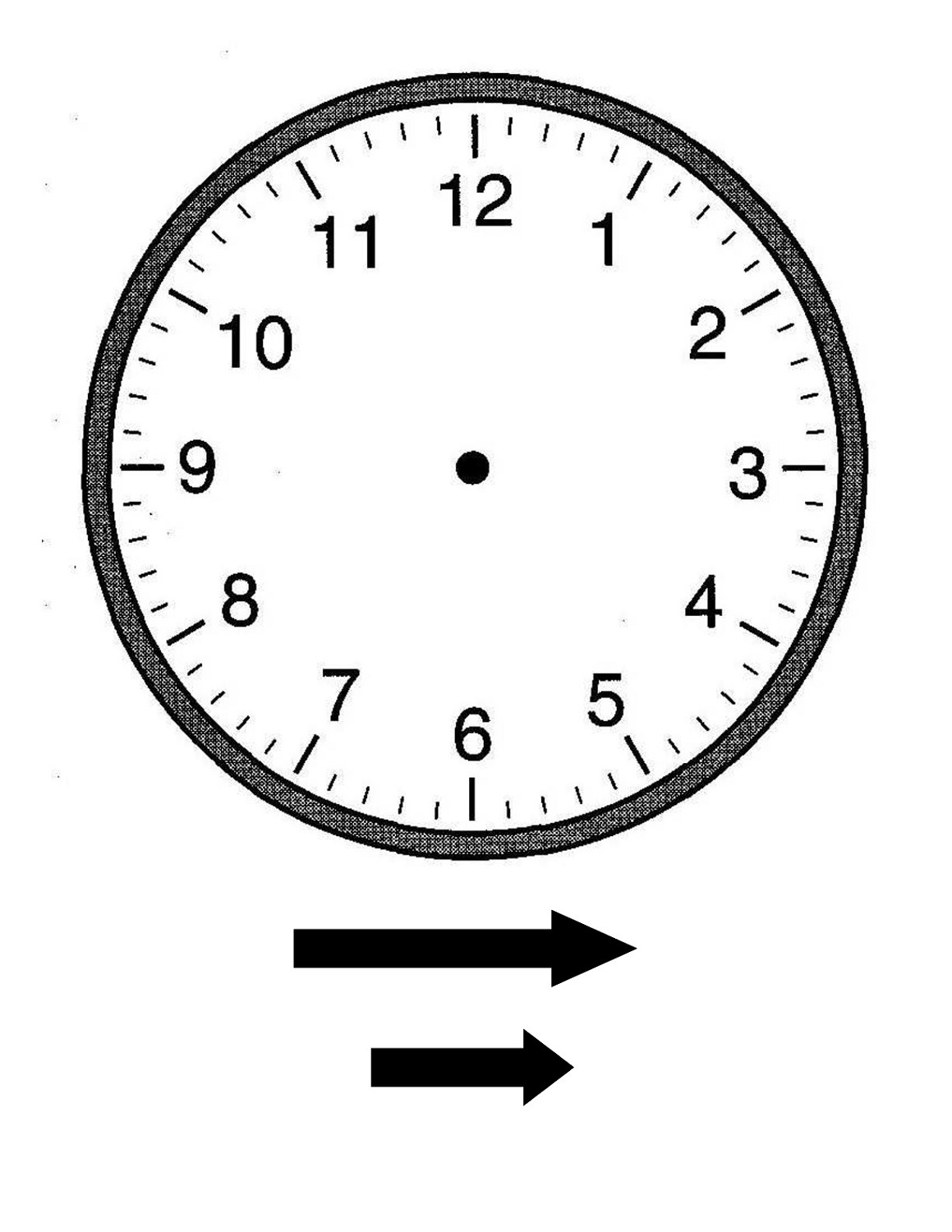 Blank Clock Faces Templates Activity Shelter