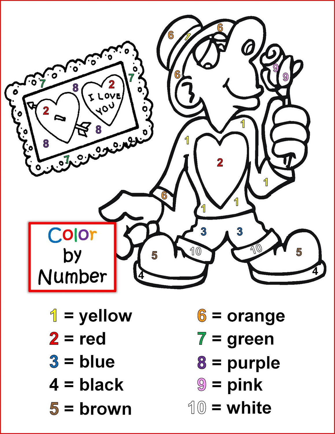 color-by-number-worksheet-valentine