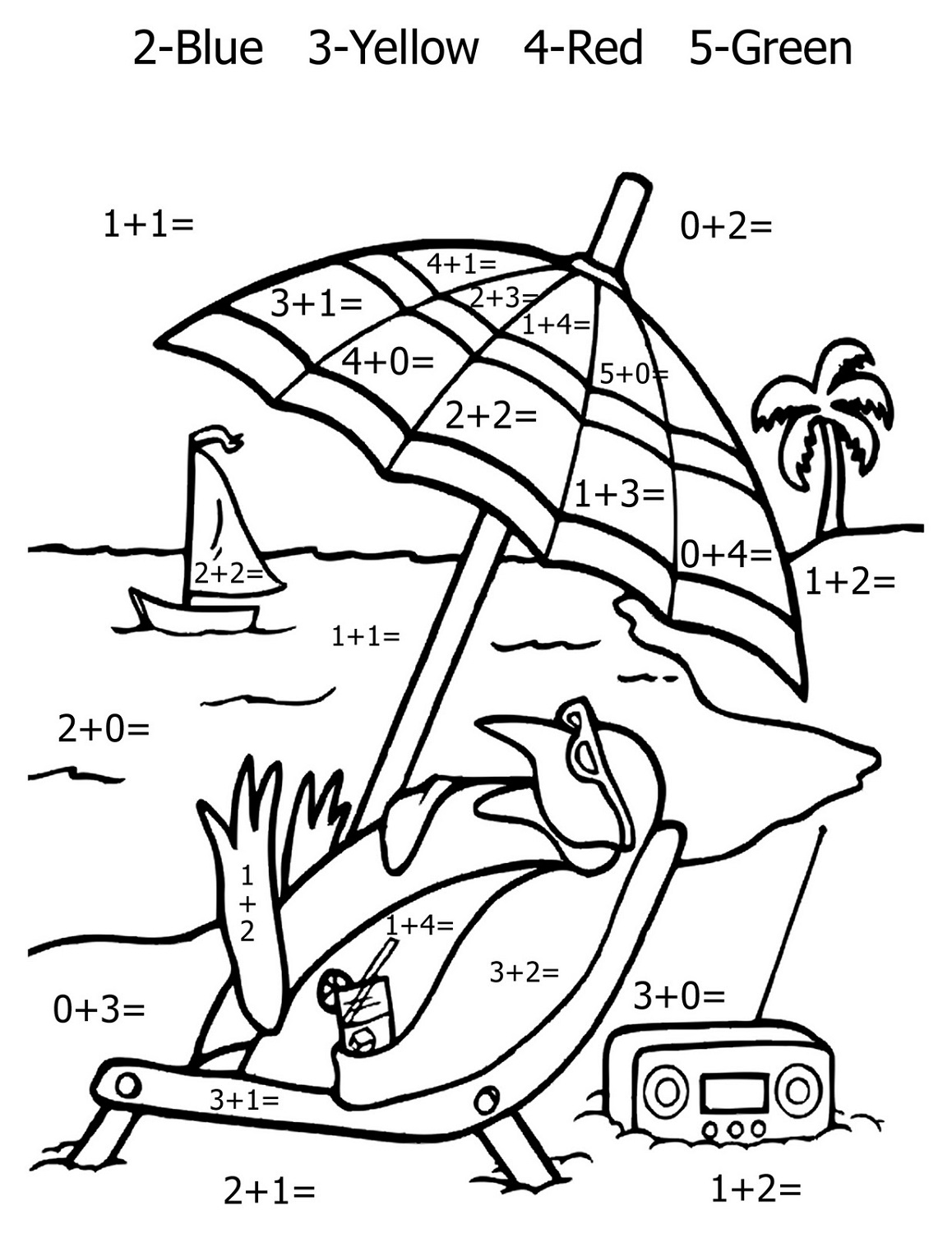 color-by-numbers-worksheets-beach