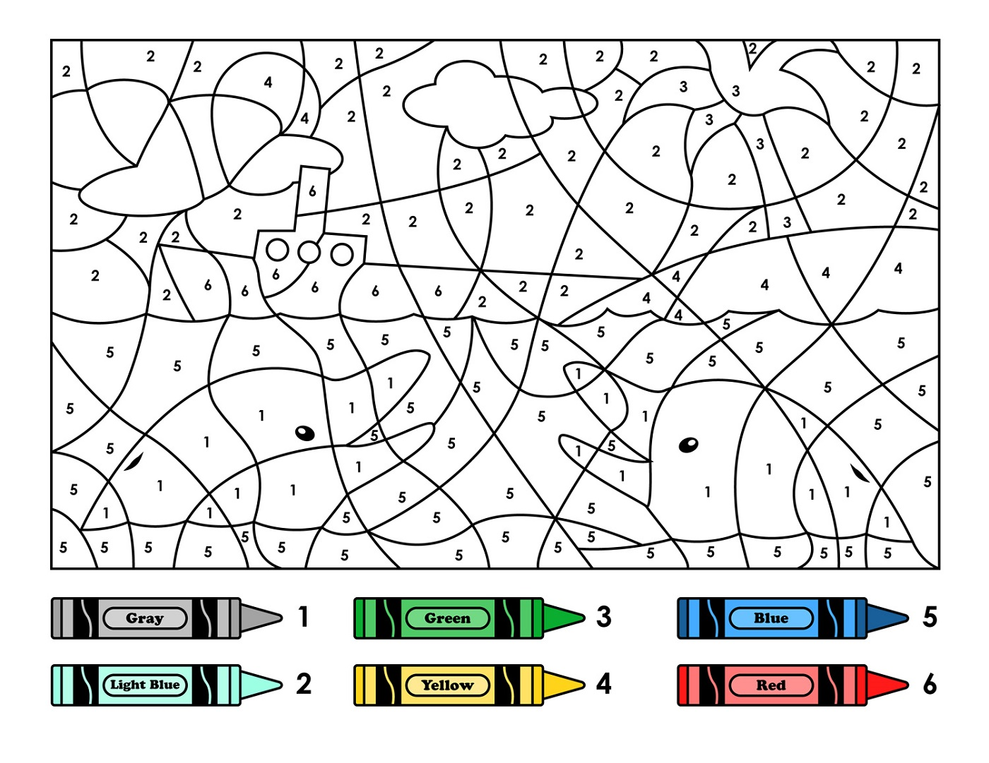 Free Color By Number Worksheets : Free color by number worksheets printable activity shelter