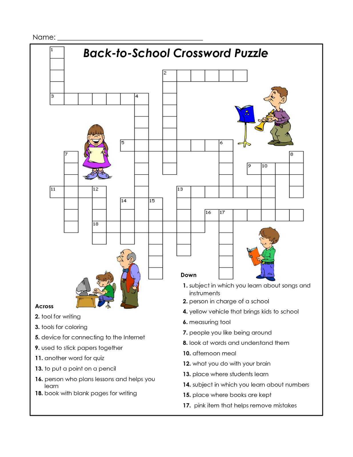 Easy Crosswords Puzzles for Kids | Activity Shelter