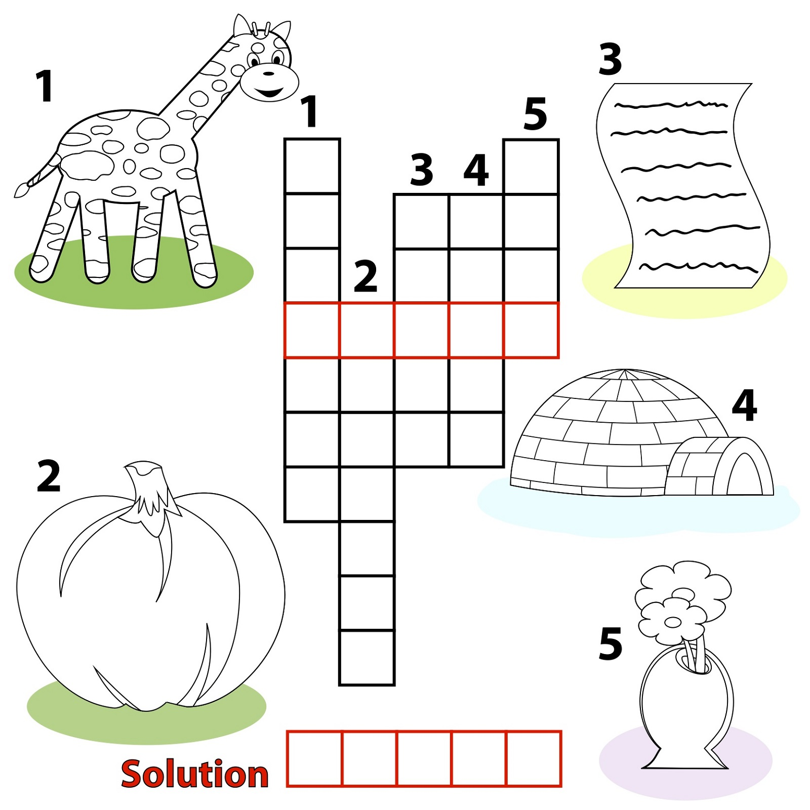 Easy Crossword Puzzles For Kids Simple
