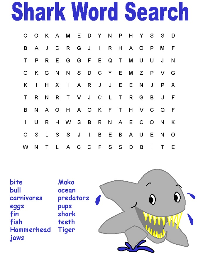 fish-word-search-shark