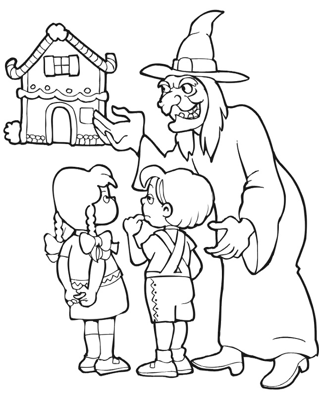 hansel and gretel coloring pages - photo#20