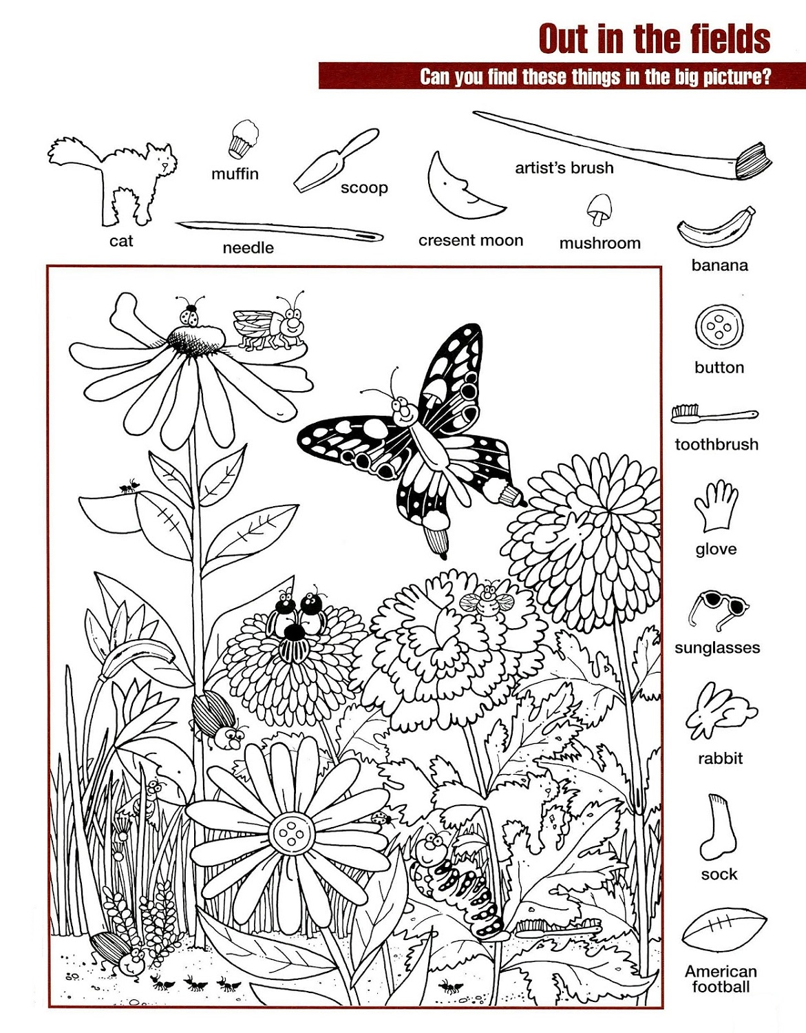 Hidden Pictures Worksheets – Hidden Picture Worksheets