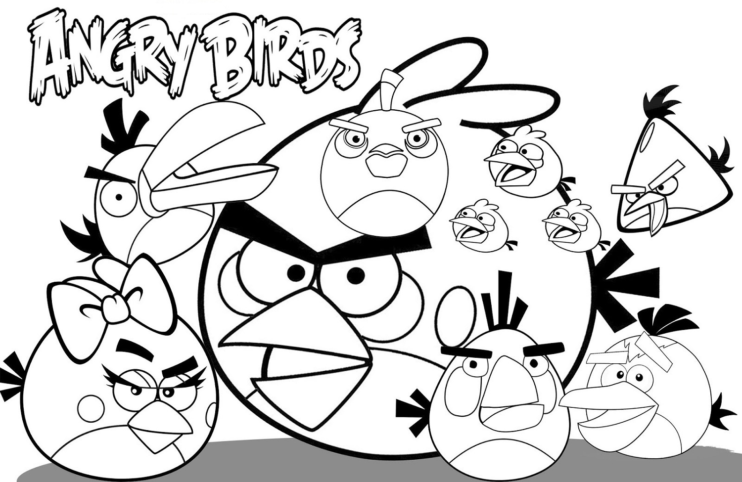 kids activity pages angry bird - Kid Activity Pages