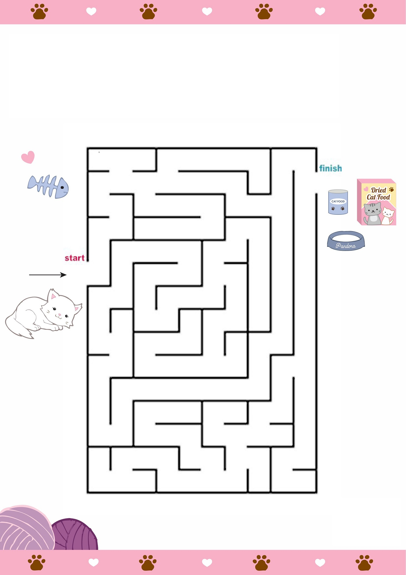mazes for children cat