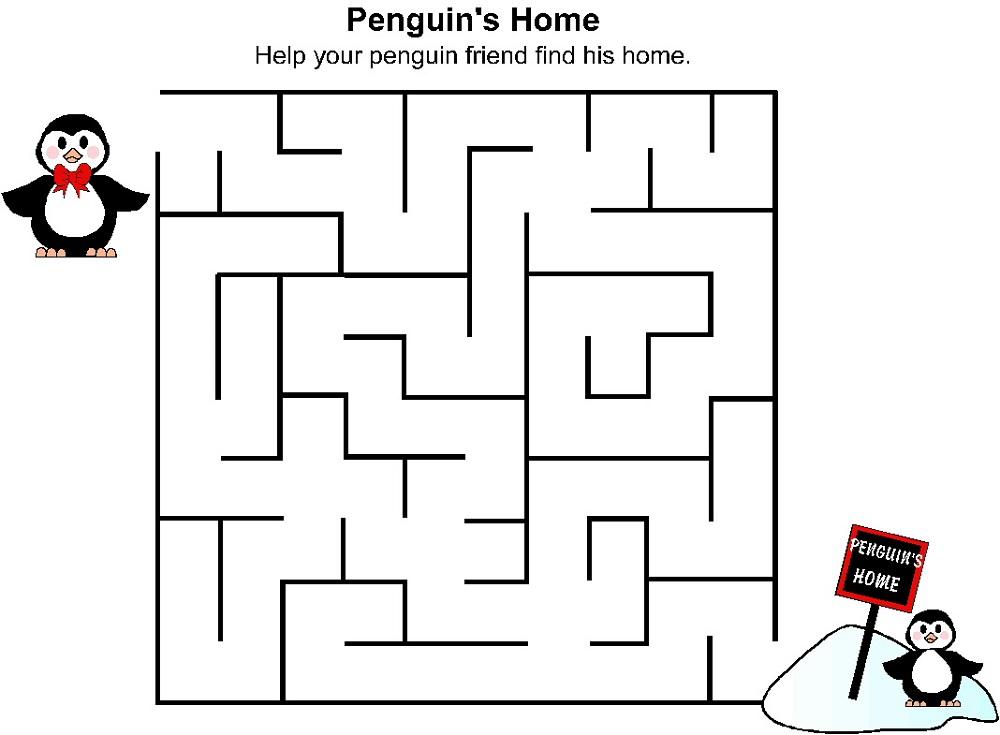 mazes-for-children-penguin