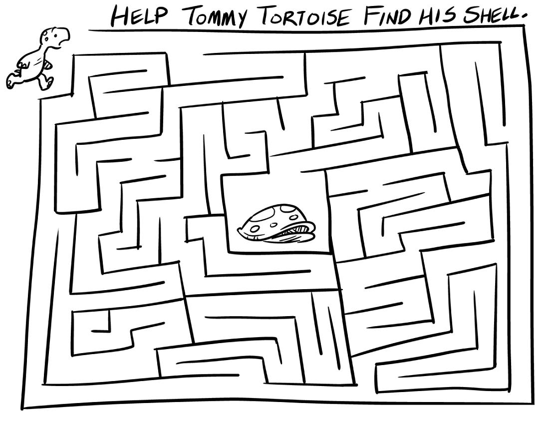 mazes-for-children-tortoise