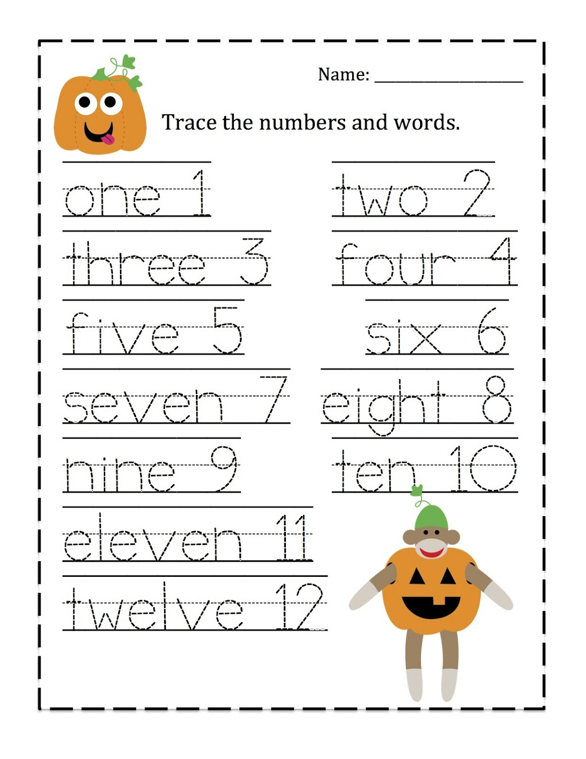 number-trace-worksheet-pumpkin