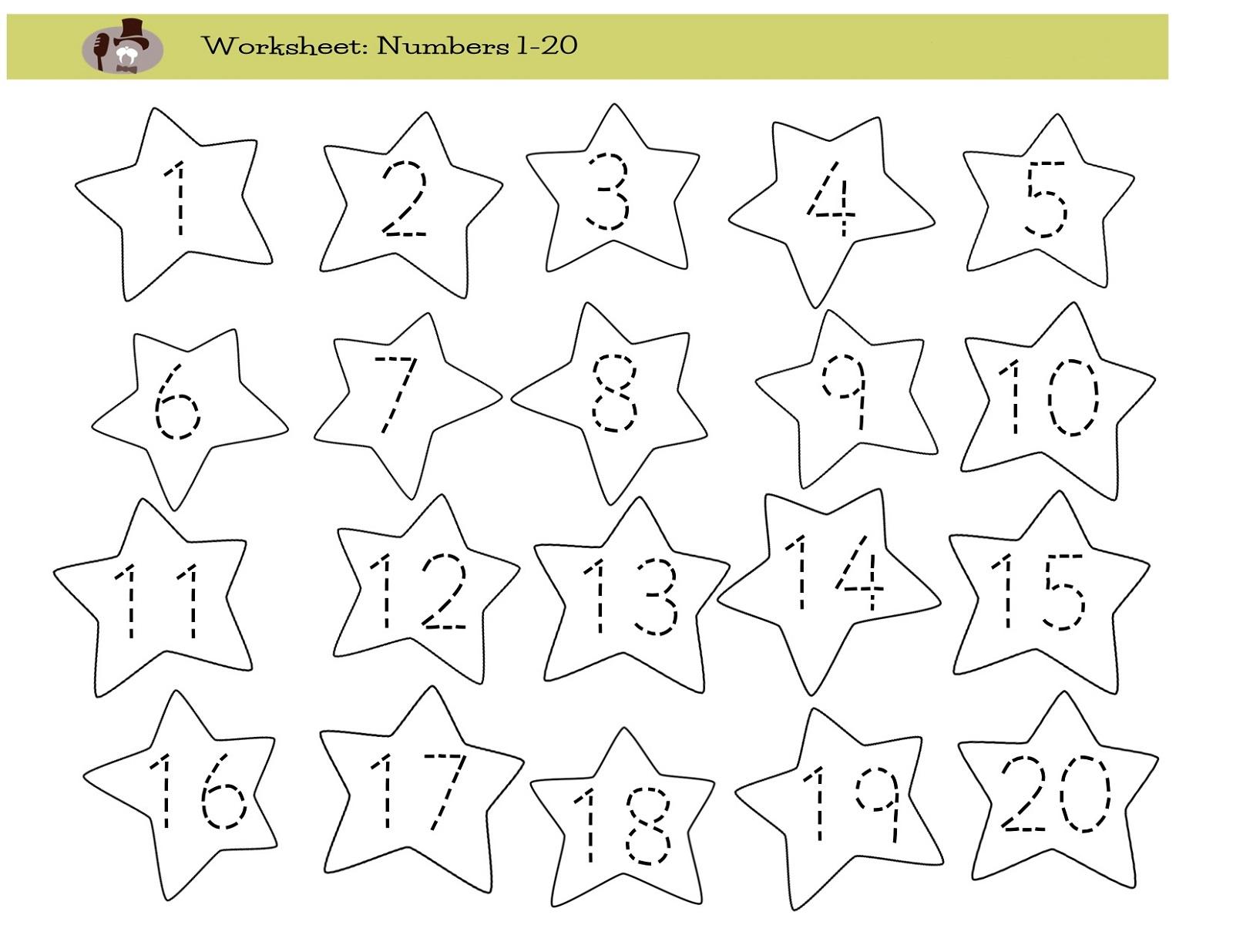 number-trace-worksheet-star