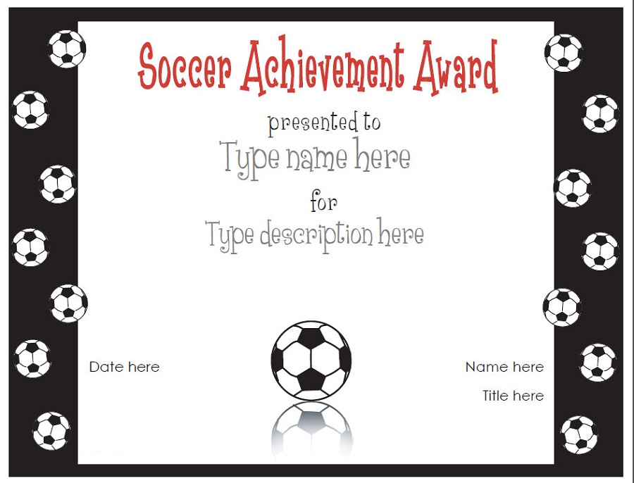 soccer certificate templates activity shelter