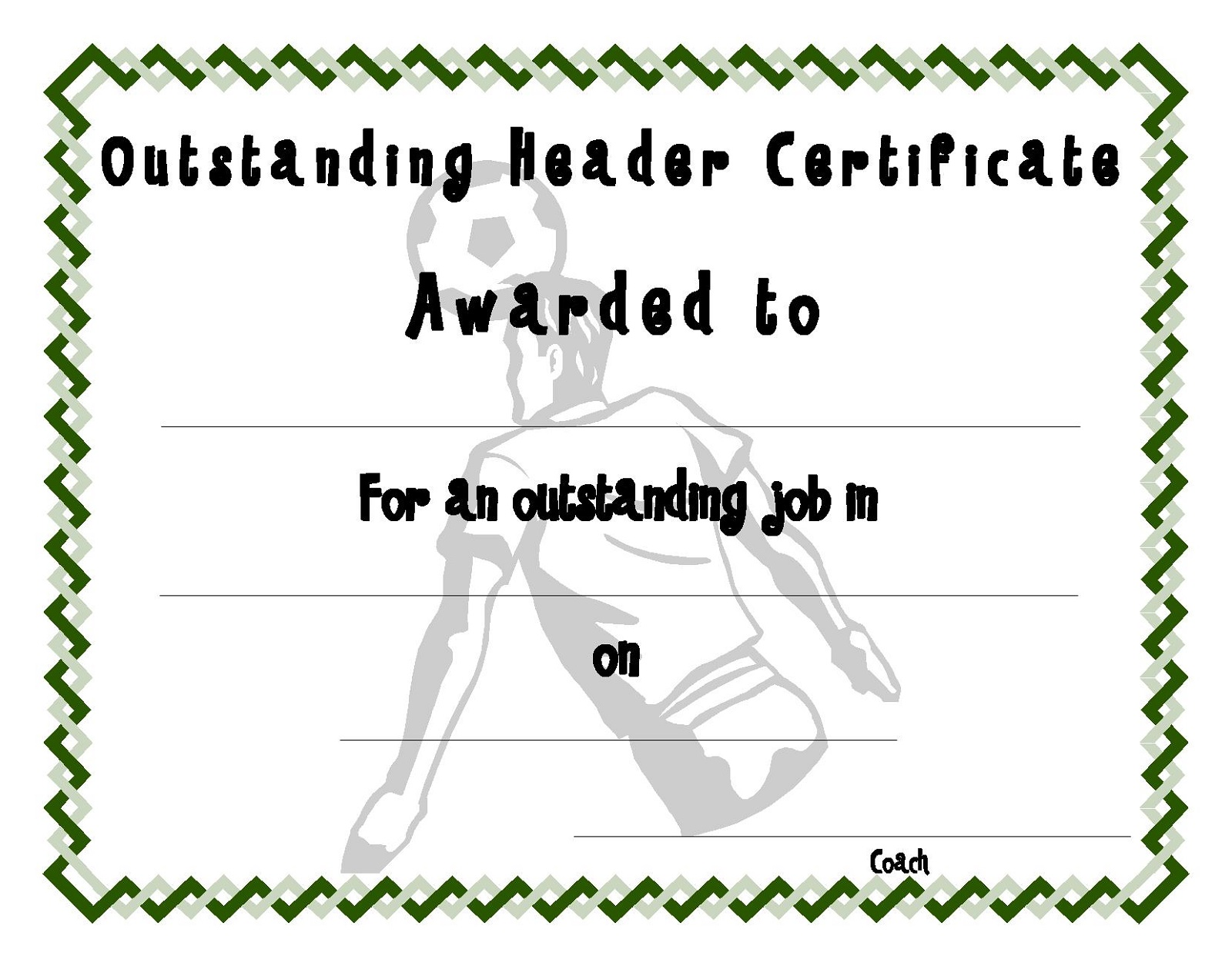 soccer certificate templates editable