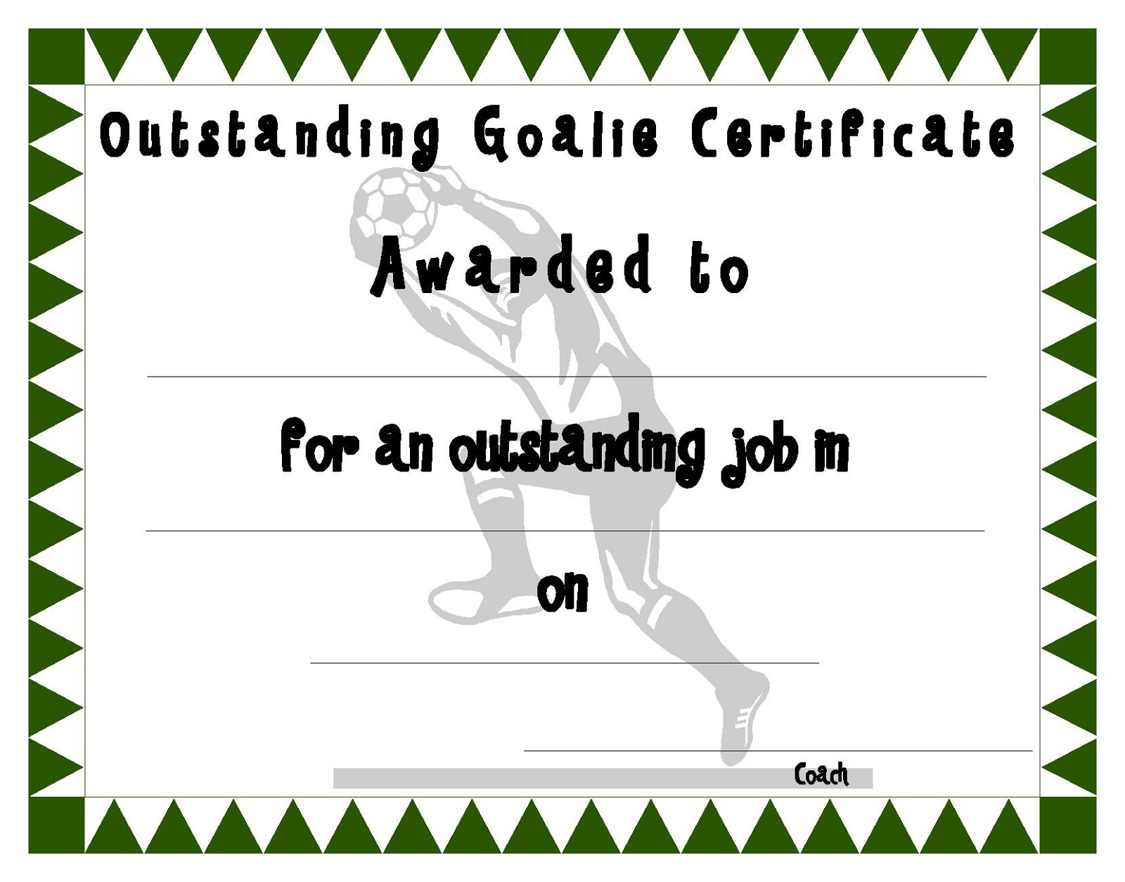 photograph regarding Printable Soccer Certificate titled Football Certification Templates Video game Shelter
