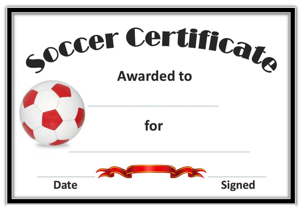 Soccer Certificate Templates | Activity Shelter