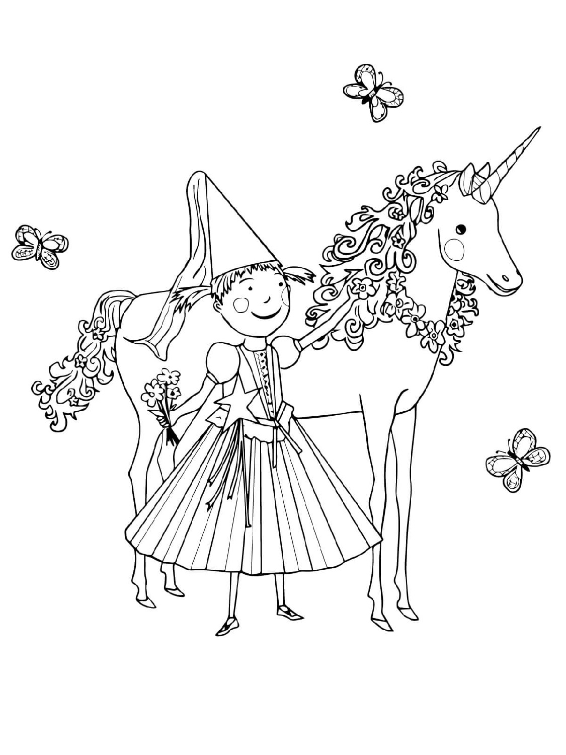 Free Pages For Girls Unicorns Coloring Pages