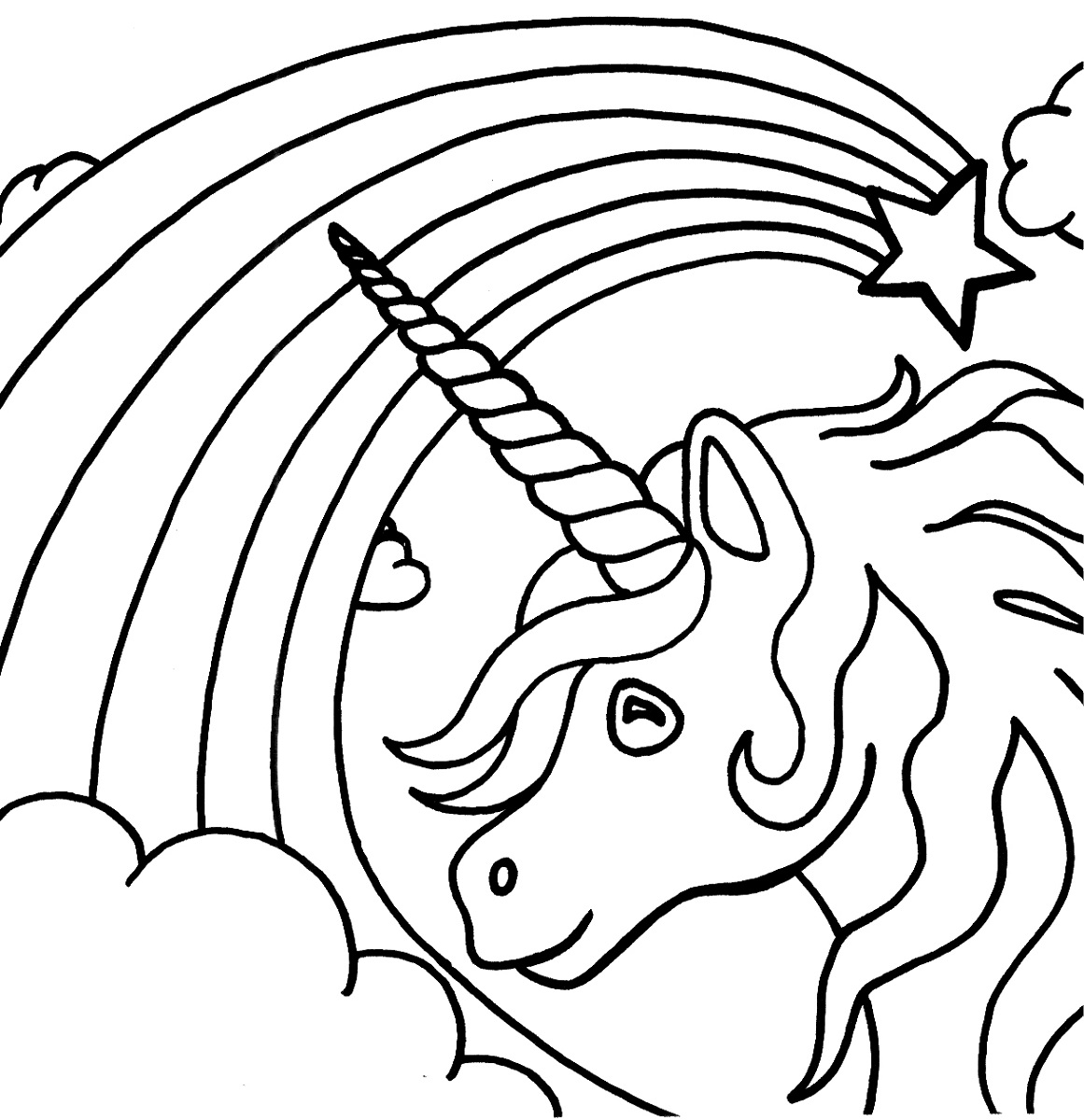 Coloring Pages For Unicorns : Unicorn color pages for kids activity shelter