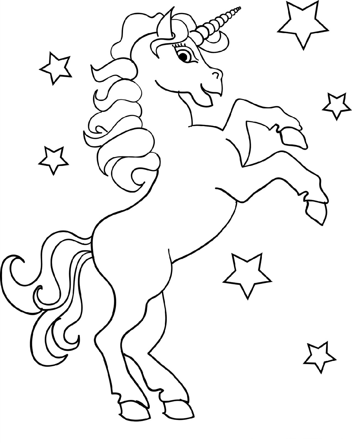 unicorn-color-pages-star