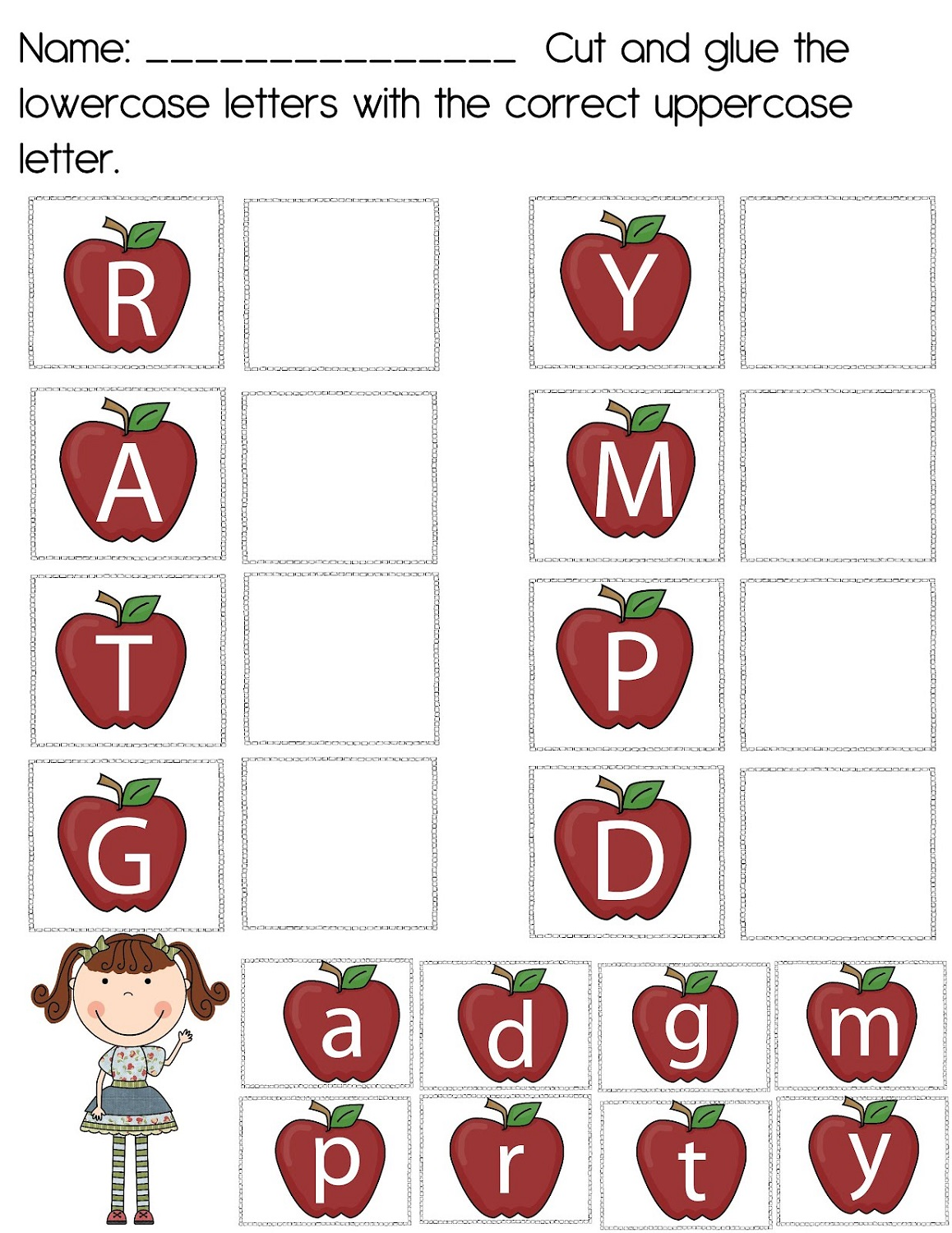 uppercase-and-lowercase-worksheets-apple