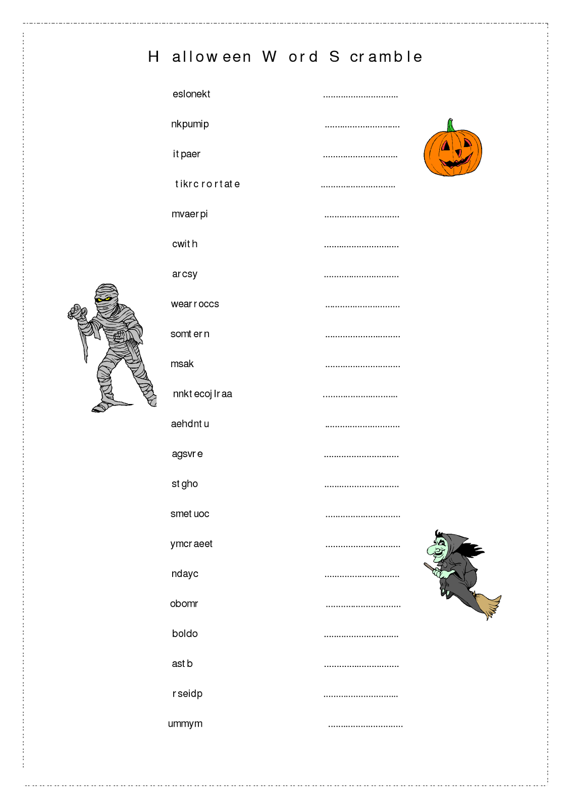 word-scramble-worksheet-halloween