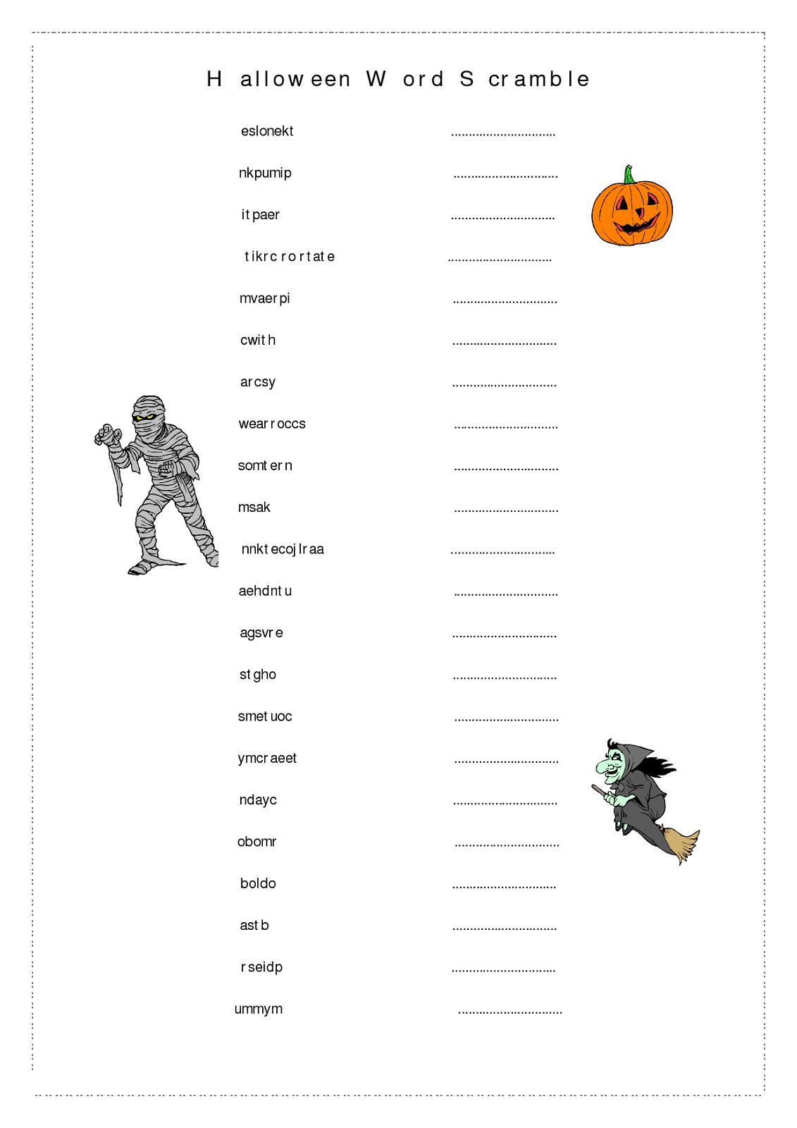 word-scramble-worksheet-halloween