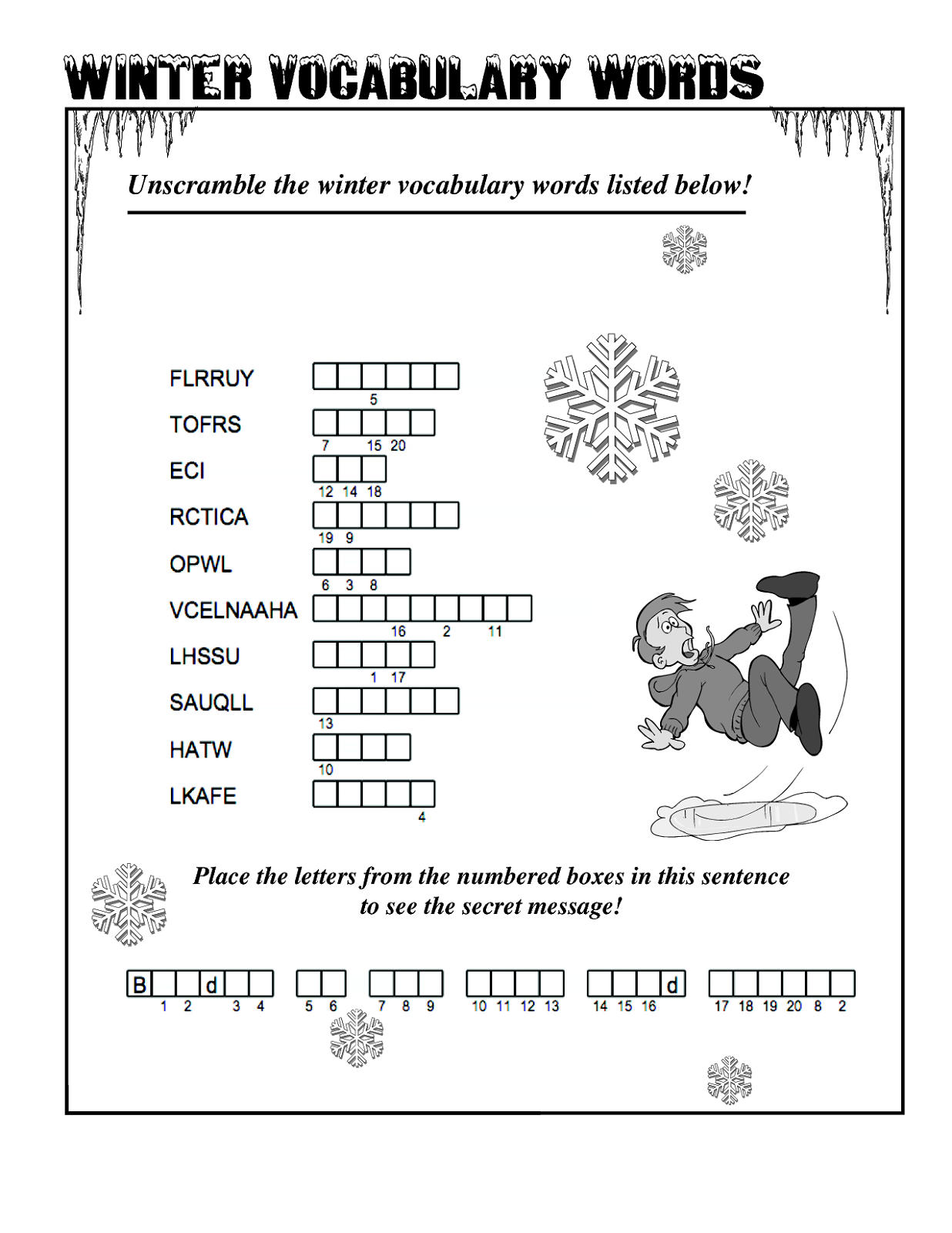 word-scramble-worksheet-winter