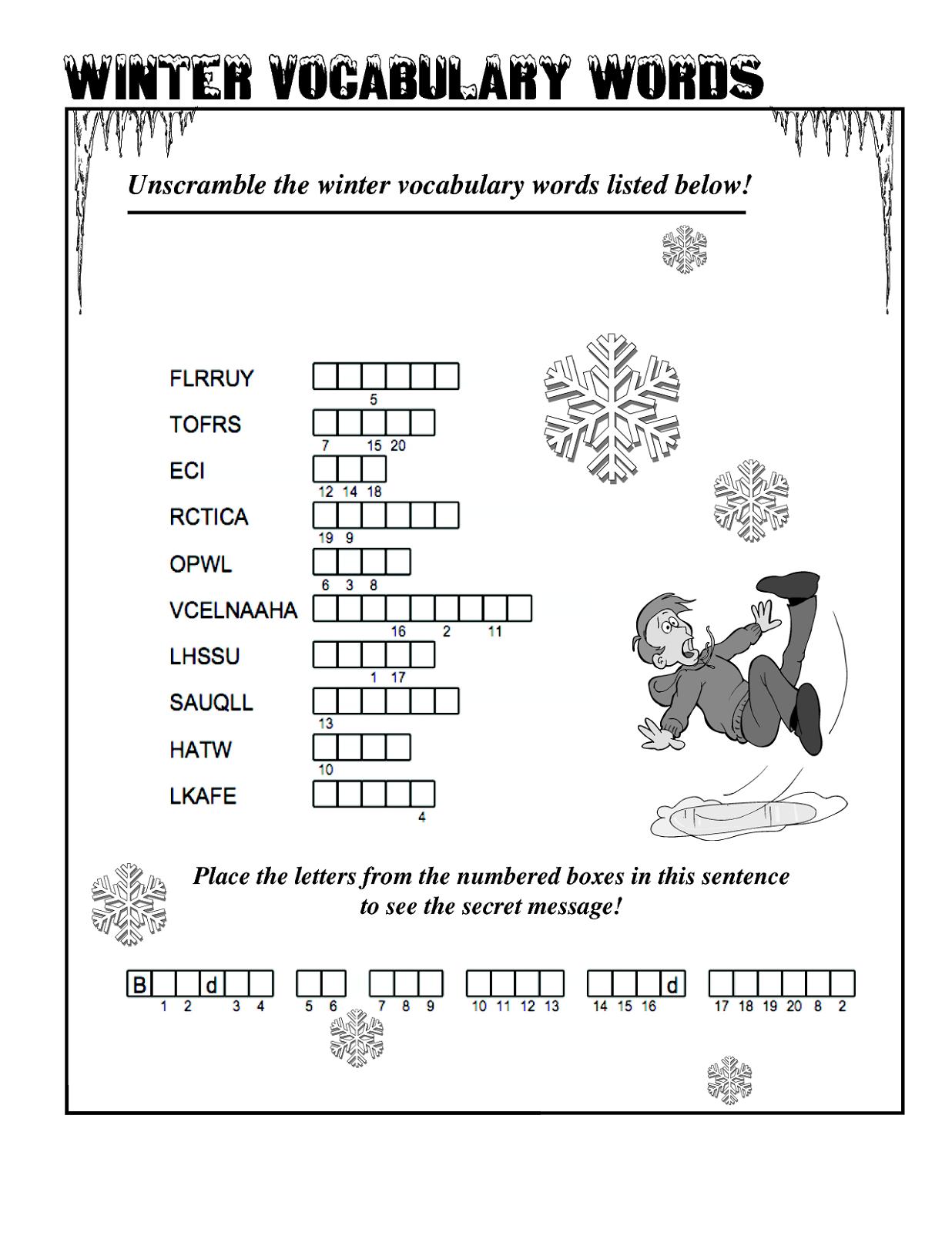 word-scramble-worksheet-winter