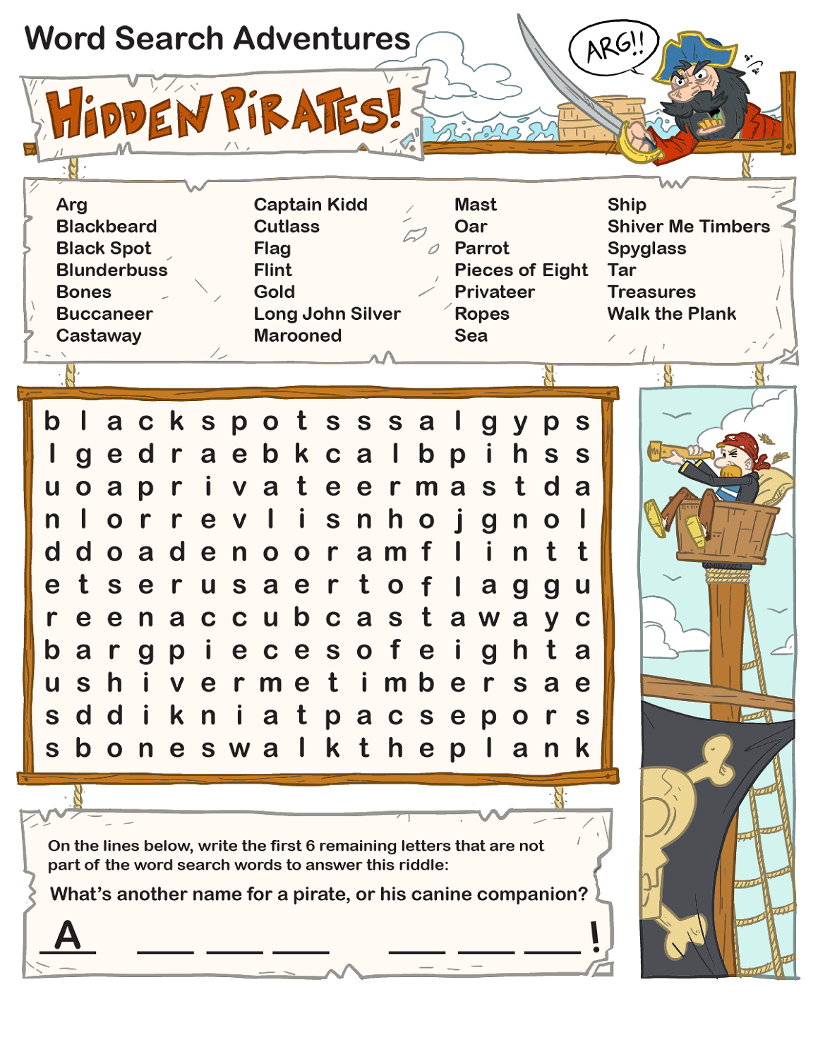 Free and Printable Word Search Kids – Printable Word Search Worksheets