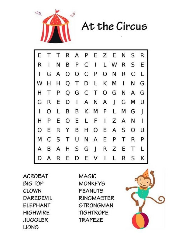 childrens-word-search-circus