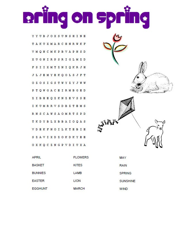 childrens-word-search-spring