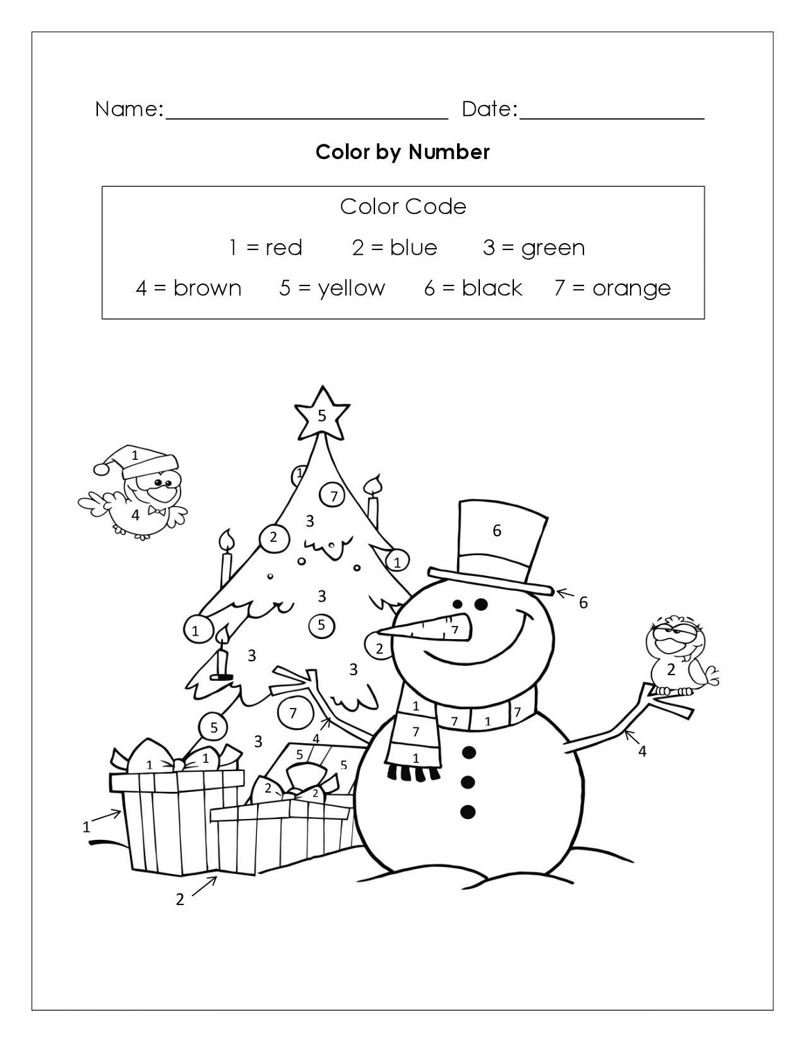 Color by Numbers Worksheets Printable – Color by Number Christmas Worksheets