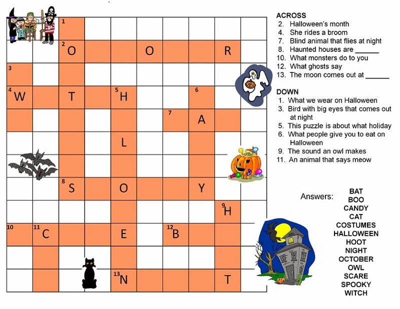 Easy Kids Crosswords Puzzles | Activity Shelter