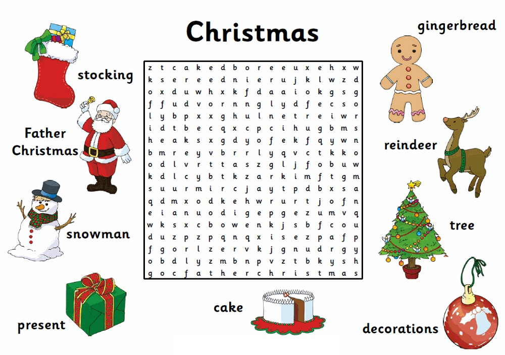 easy word search for kids christmas - Picture Search For Kids