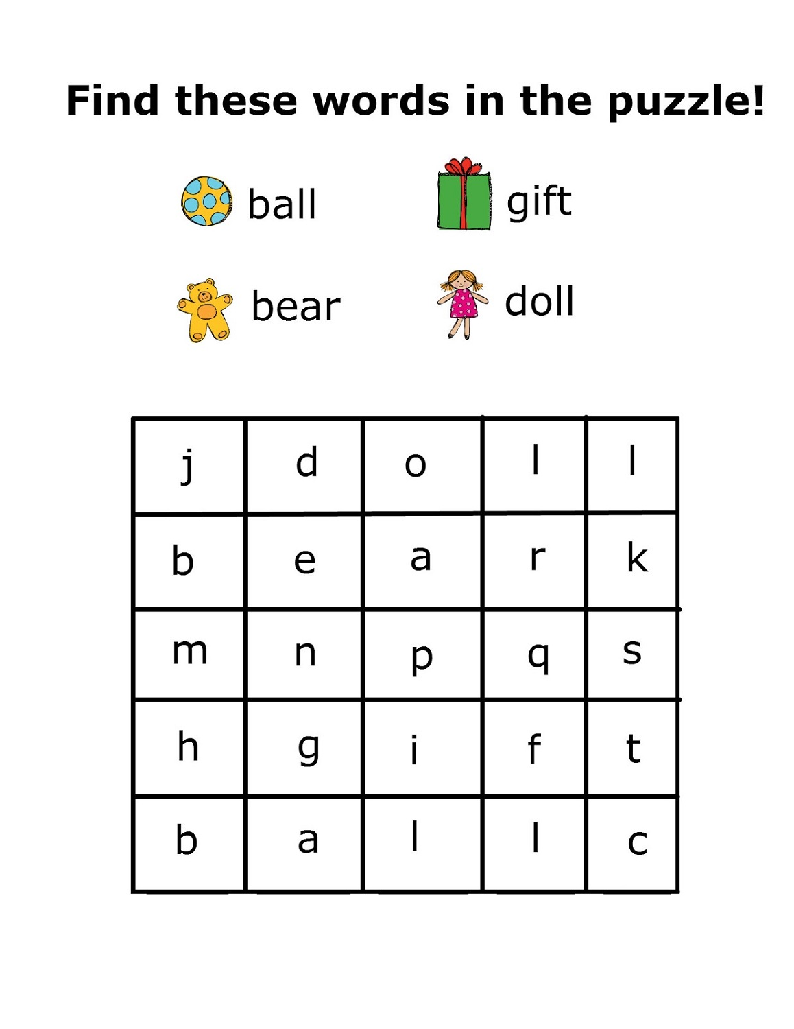 Kindergarten Word Search Worksheets & Free Printables ...