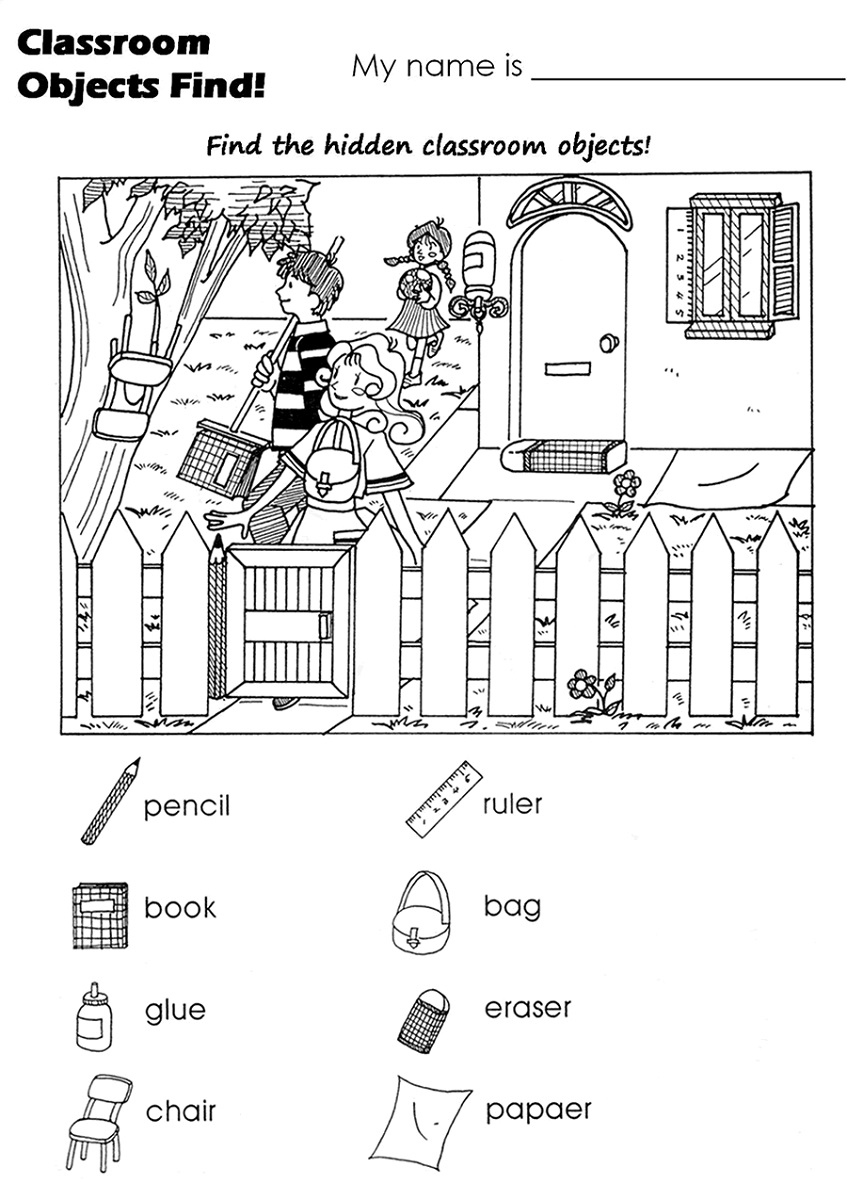 hidden picture worksheet for kids - Hidden Pictures For Kids