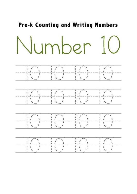 number-10-worksheet-printable