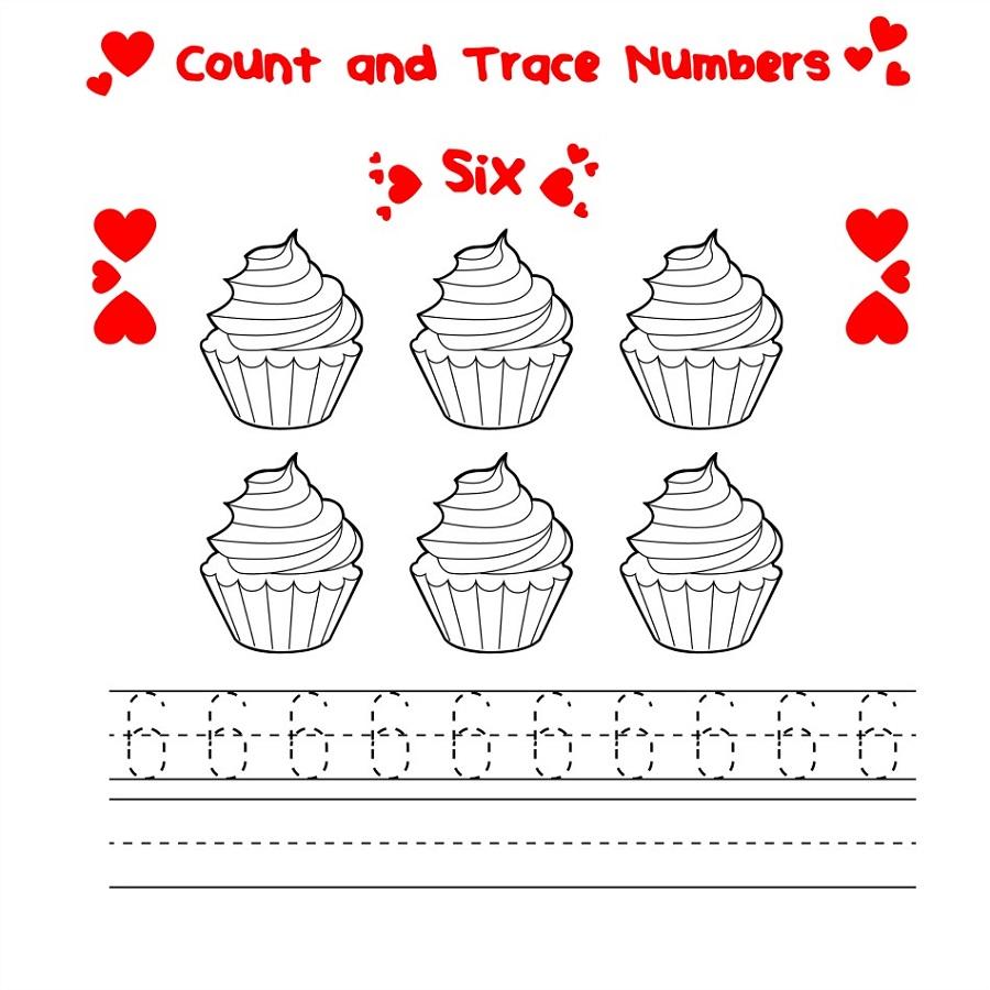 number-6-worksheets-cupcake