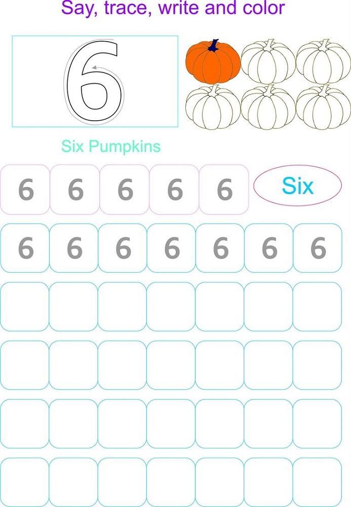 number-6-worksheets-pumpkin
