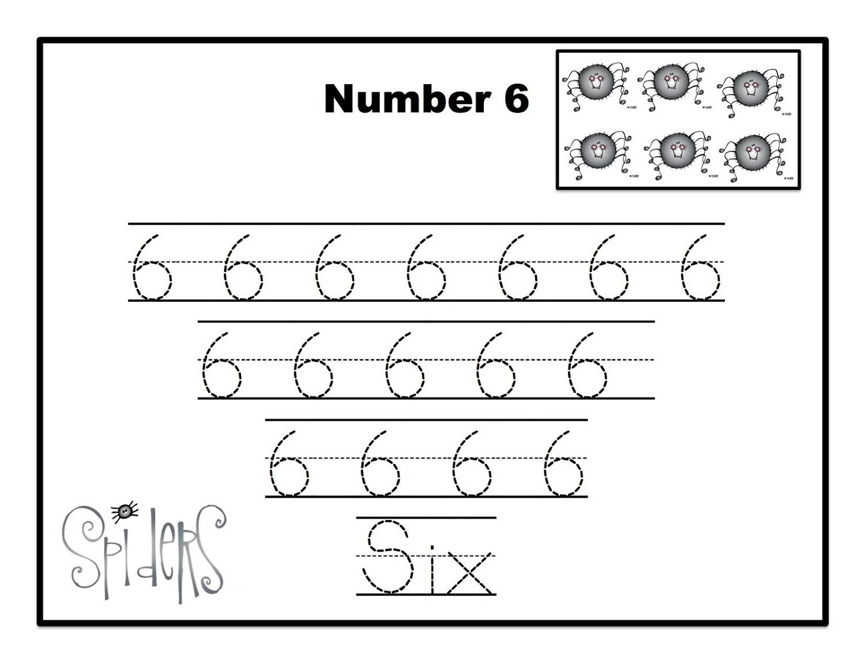 number-6-worksheets-spider