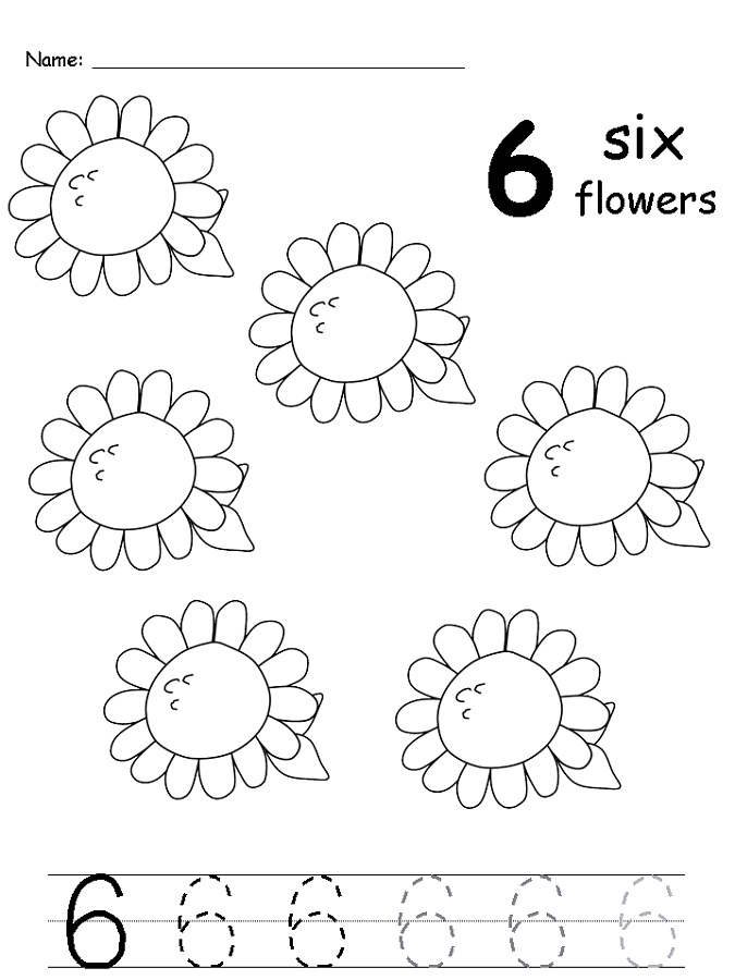 number-6-worksheets-sunflower