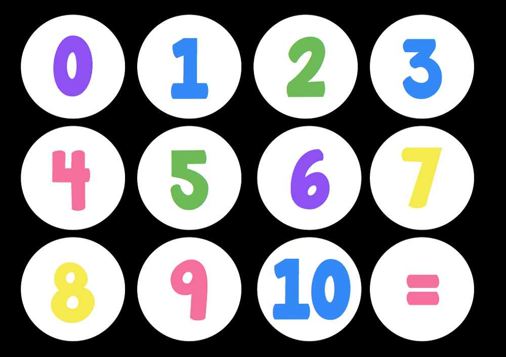 Printables Number Images 1-10 pictures of number 1 10 activity shelter numbers black