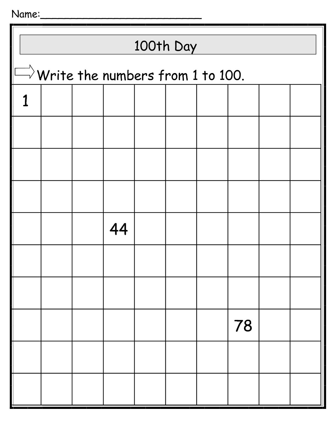 100-chart-worksheets-missing