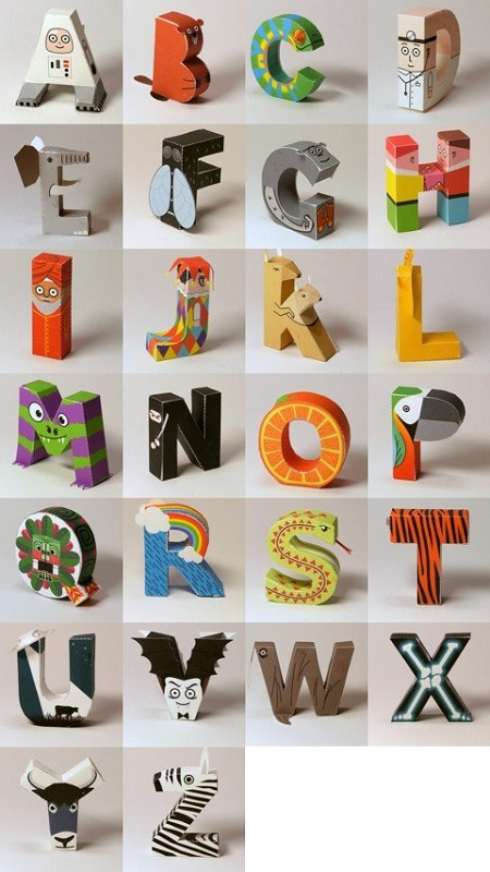 animal shaped letters page