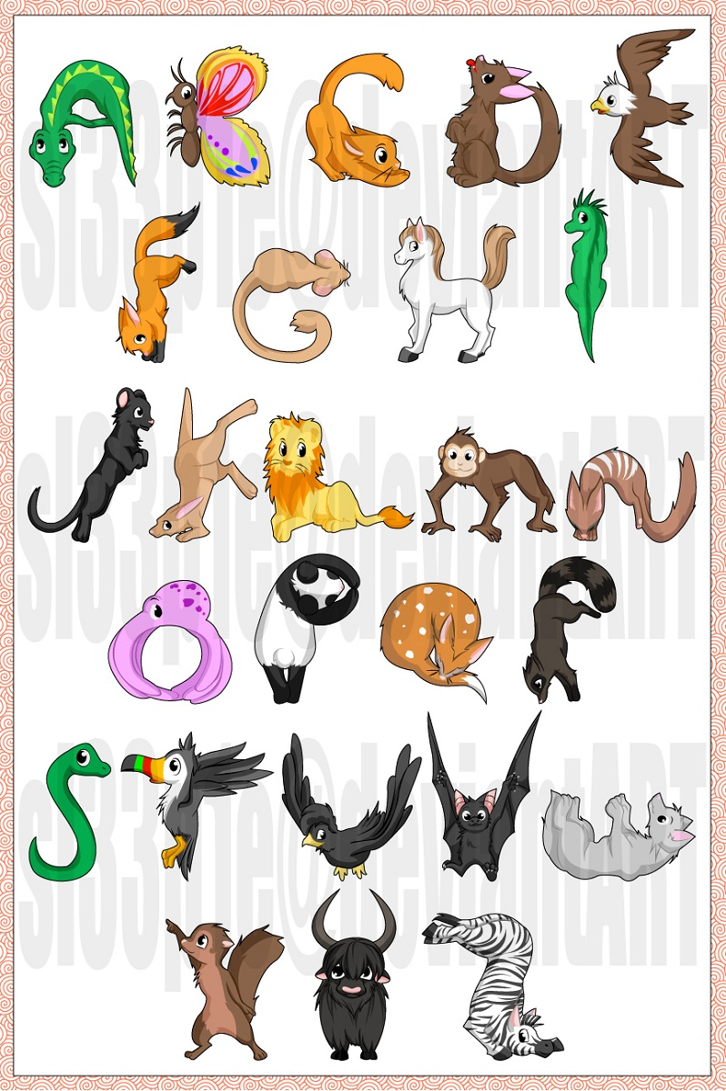 animal shaped letters picture