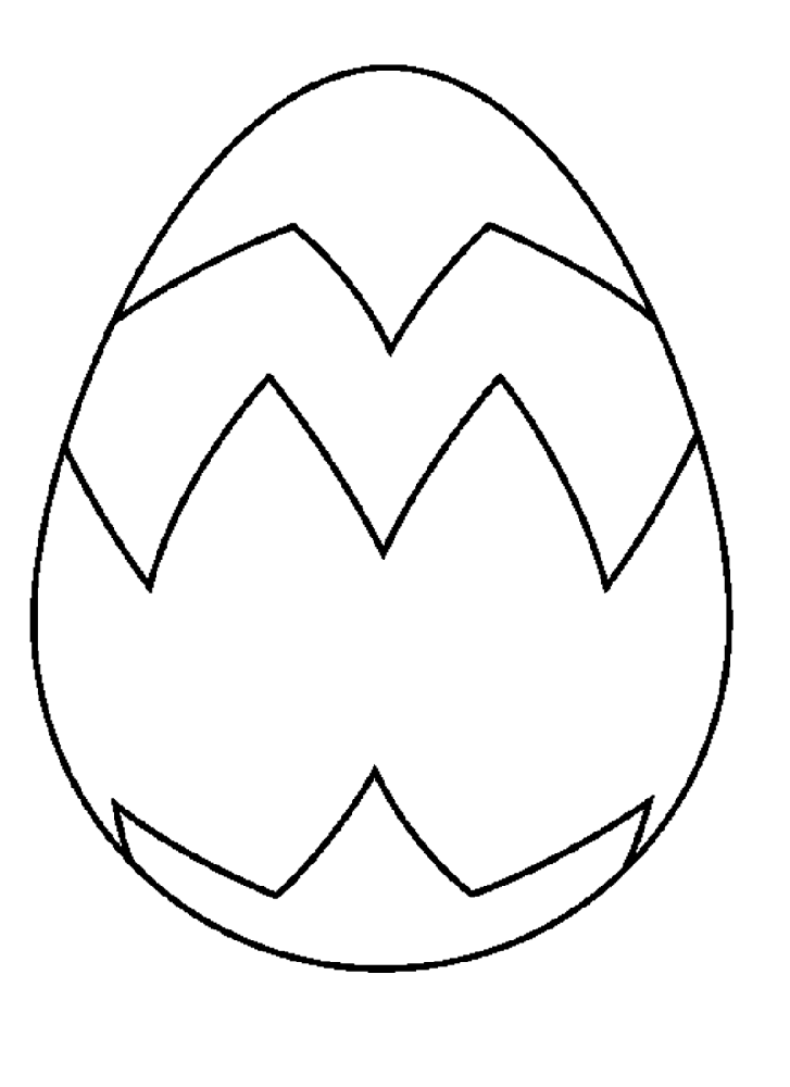 blank easter egg template design