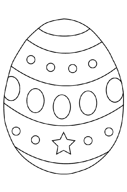 blank easter egg template happy