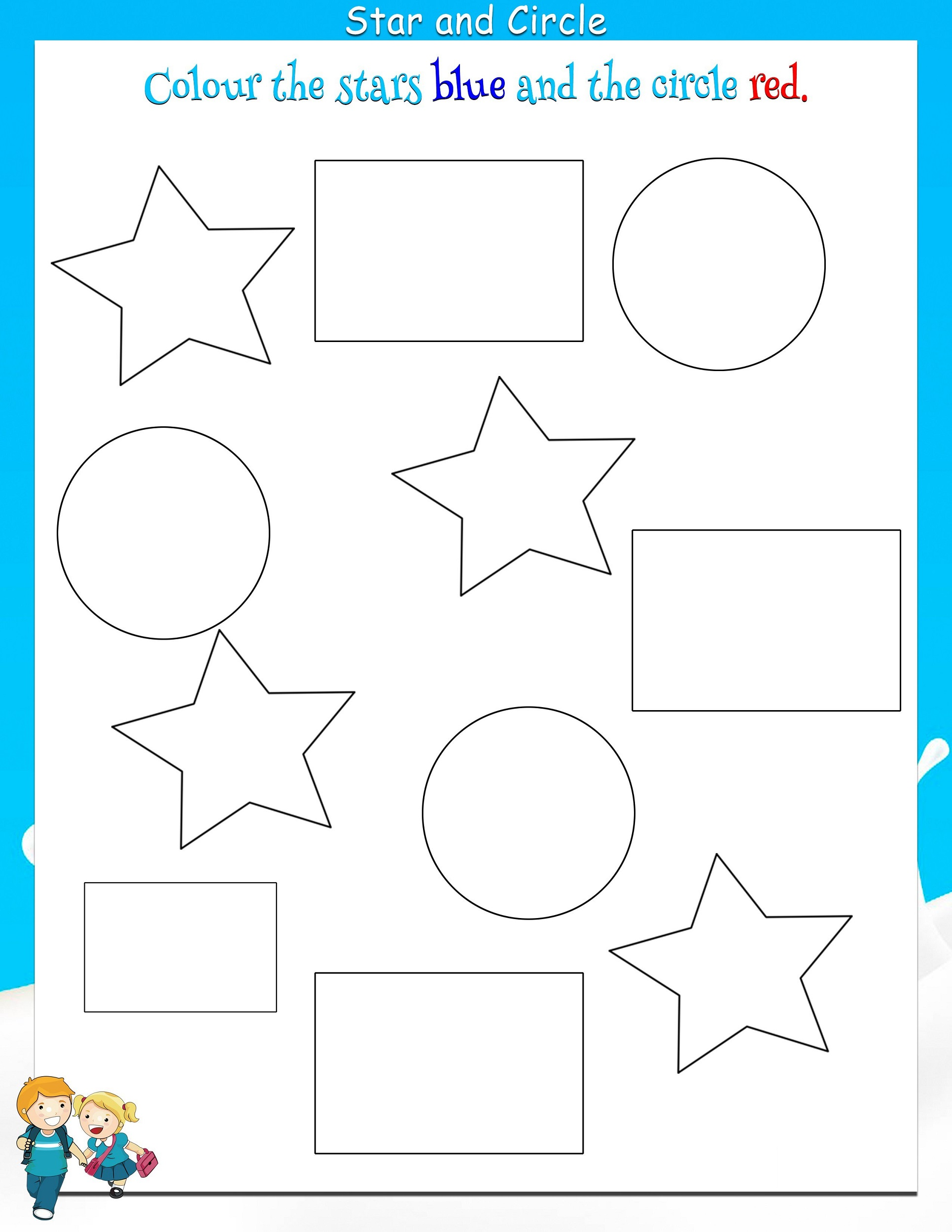 color the shapes worksheet free